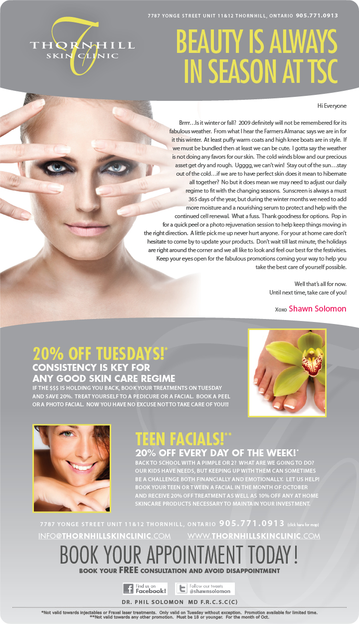 Promotions brought to you by Thornhill Skin Clinic